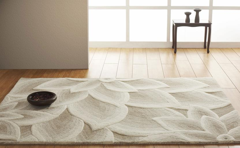 Artisan Studio Lux-Cologne-17027-White Beige Room Lifestyle Hand-Tufted Area Rug detail
