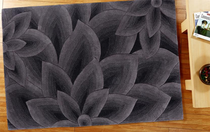 Artisan Studio Lux-Cologne-17027-Black Charcoal Room Lifestyle Hand-Tufted Area Rug detail