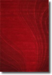 Artisan Studio Lux-Malabar-Red Hand-Tufted Area Rug
