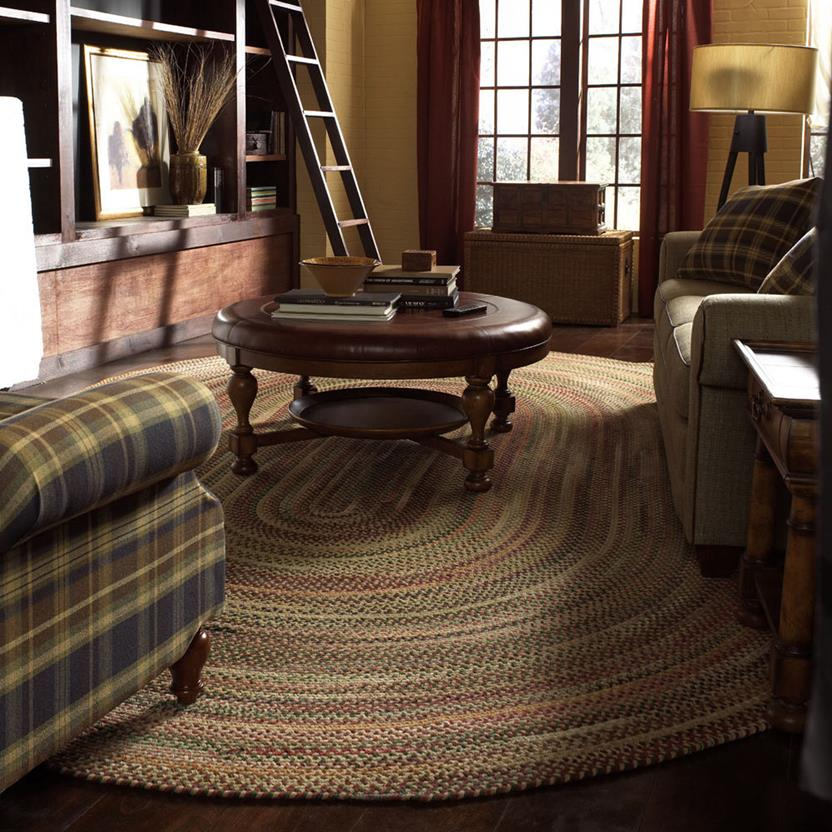 Bear Creek VS Rectangle-980-150-Wheat Room Lifestyle Braided Area Rug detail