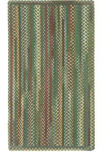 Bear Creek VS Rectangle-980-275-Hunter Green Braided Area Rug