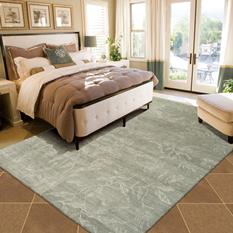 Silk Shadows-SHA01-LTG Room Lifestyle Hand-Knotted Area Rug detail