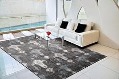 Silk Shadows-SHA09-GRY Room Lifestyle Hand-Knotted Area Rug detail