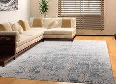 Silk Shadows-SHA10-STERL Room Lifestyle Hand-Knotted Area Rug detail