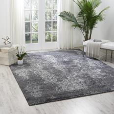 Silk Shadows-SHA14-GRAPH Room Lifestyle Hand-Knotted Area Rug detail