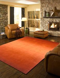 Metro MO-MT-12-Paprika Room Lifestyle Hand-Tufted Area Rug detail