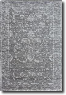 Eufora Silk-501-Grey Machine-Made Area Rug