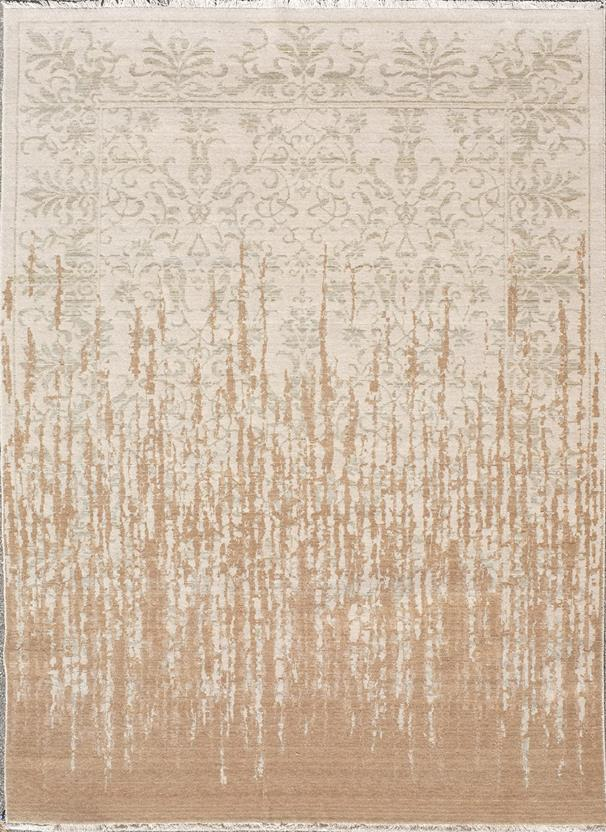 Tiffani Silk-424-Beige Machine-Made Area Rug