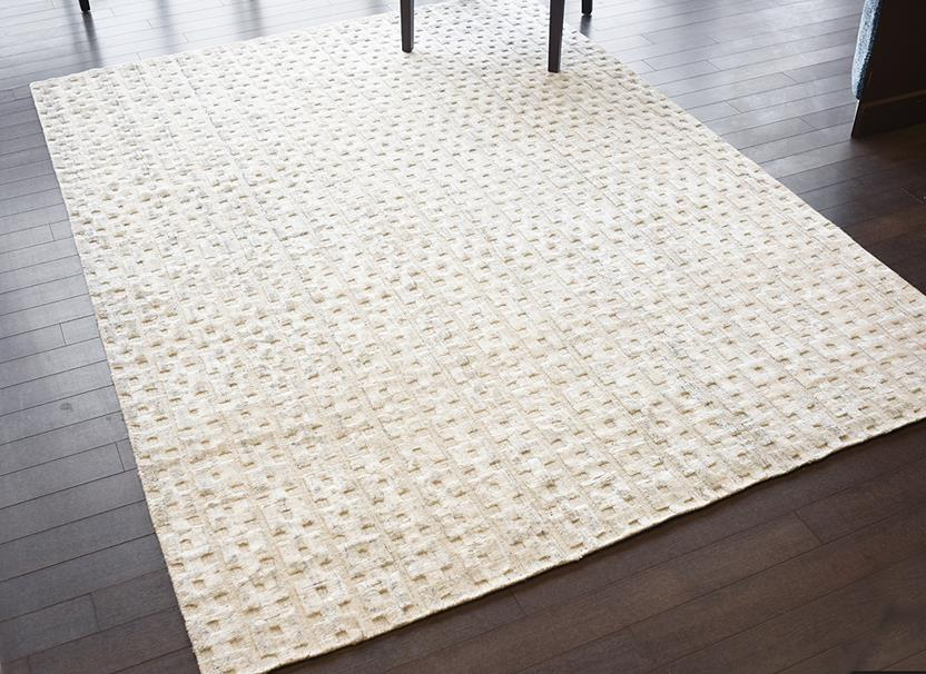 Azores-Chain Link-Cream Hand-Tufted Area Rug collection texture detail