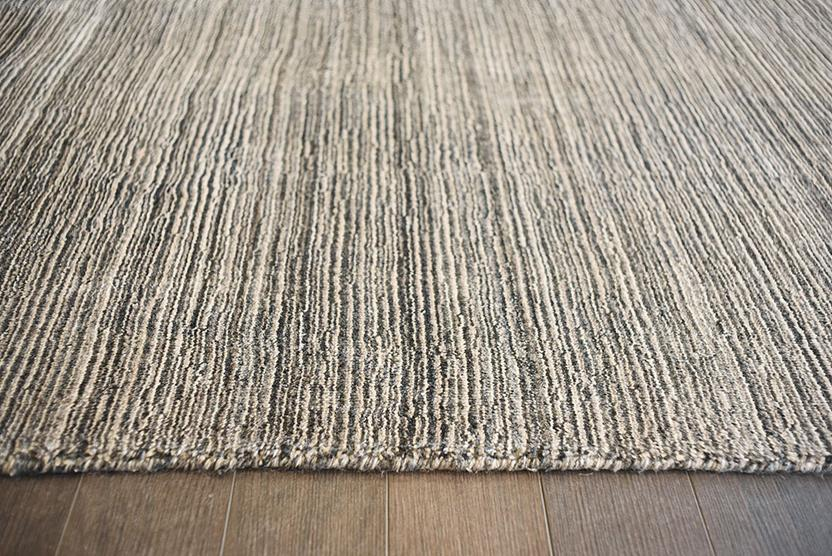 Azores-Stripe-Brown Greystone Hand-Tufted Area Rug collection texture detail