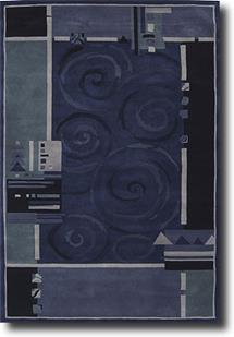 Dimensions Nouri-ND16-BL Hand-Tufted Area Rug