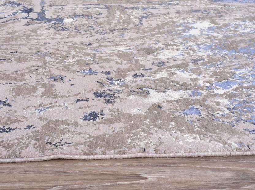 Tiffani Silk-626-Grey Blue Machine-Made Area Rug collection texture detail