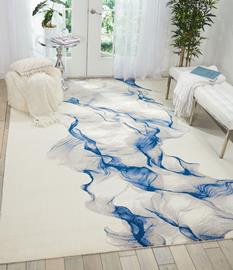 Twilight Nouri-TWI27-IVBLU Room Lifestyle Machine-Made Area Rug detail