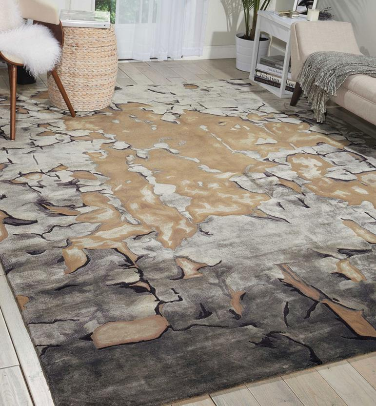Prismatic-PRS02-BGSIL Room Lifestyle Hand-Knotted Area Rug detail