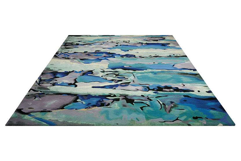 Prismatic-PRS04-SEAGL Hand-Knotted Area Rug collection texture detail