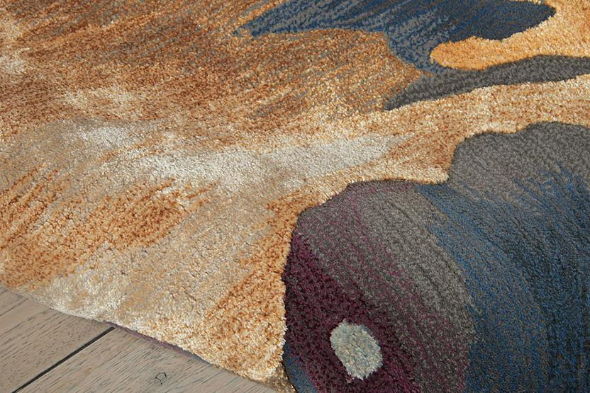Prismatic-PRS08-MULTI Hand-Knotted Area Rug collection texture detail