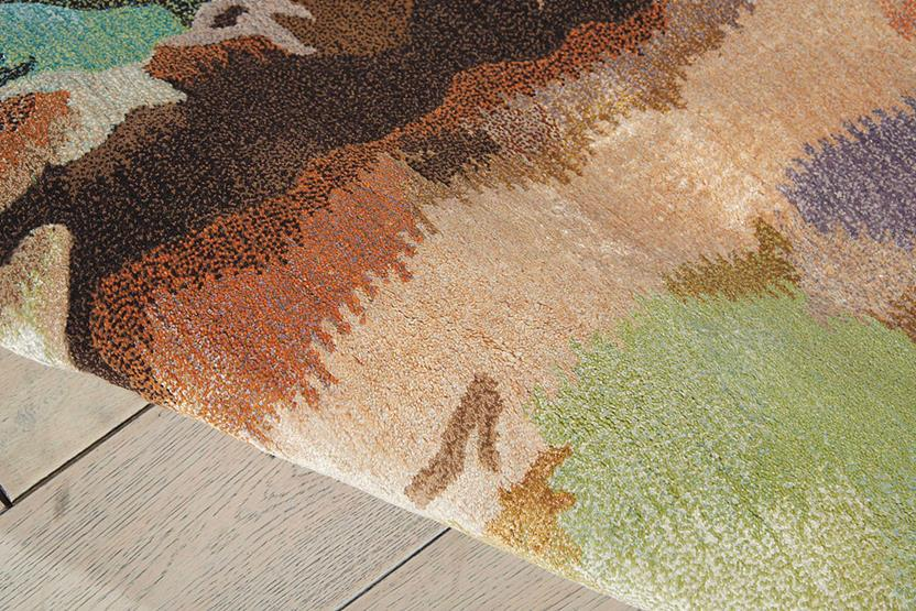 Prismatic-PRS09-MULTI Hand-Knotted Area Rug collection texture detail