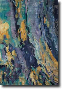 Prismatic-PRS09-SILBL Hand-Knotted Area Rug