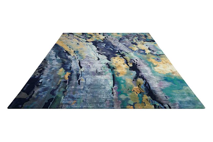 Prismatic-PRS09-SILBL Hand-Knotted Area Rug collection texture detail