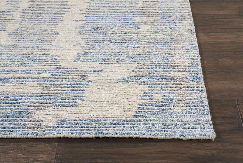Ellora-ELL01-BLUE Hand-Knotted Area Rug collection texture detail