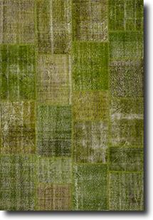 S&C Antique Kelim-SCKP05-Green Tones Area Rug