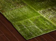 S&C Antique Kelim-SCKP05-Green Tones Room Lifestyle Area Rug detail