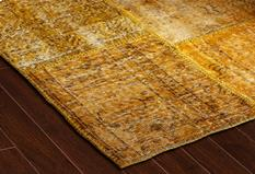 S&C Antique Kelim-SCKP06-Yellow Tones Room Lifestyle Area Rug detail