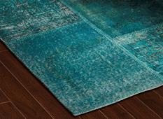 S&C Antique Kelim-SCKP07-Turquoise Tones Room Lifestyle Area Rug detail