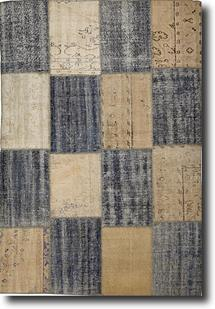 S&C Antique Kelim-SCKP01-Denim Cream Area Rug