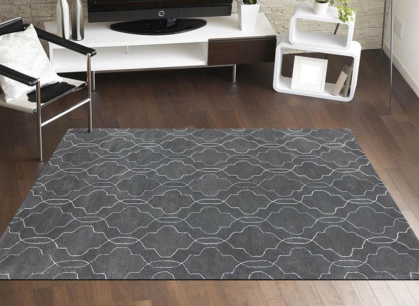 Citadel-CIT-15-Gray Room Lifestyle Hand-Tufted Area Rug detail