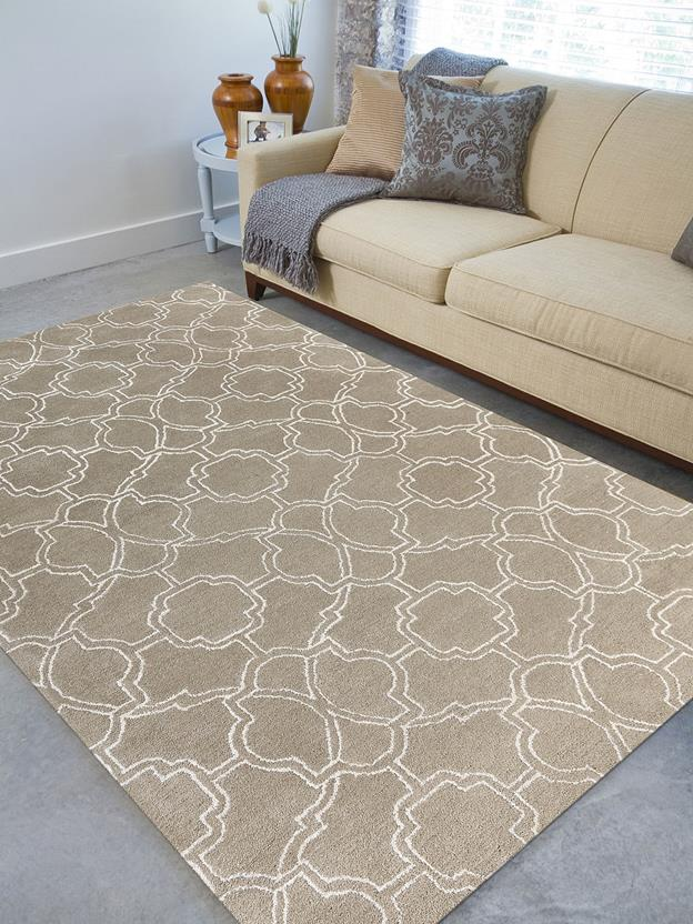 Citadel-CIT-3-Beige Room Lifestyle Hand-Tufted Area Rug detail