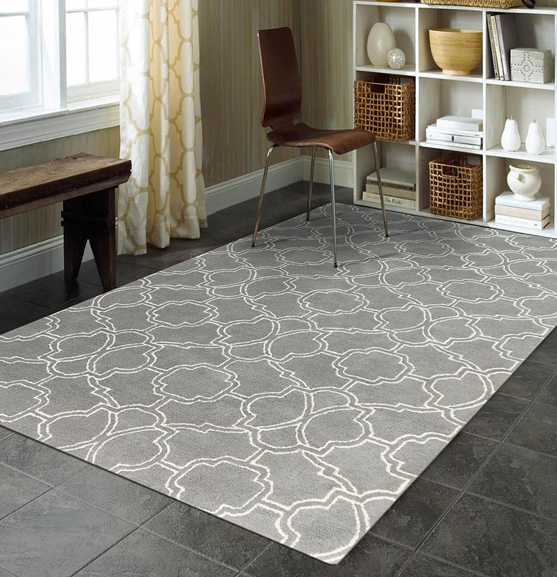 Citadel-CIT-5-Gray Room Lifestyle Hand-Tufted Area Rug detail