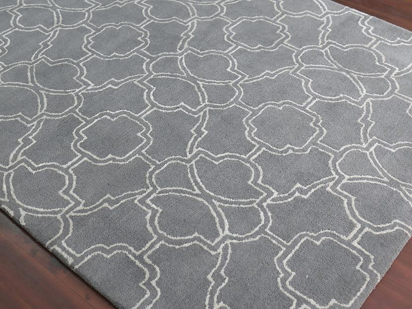 Citadel-CIT-5-Gray Hand-Tufted Area Rug collection texture detail