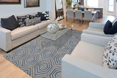 Dew-DWE-2-Blue Room Lifestyle Hand-Tufted Area Rug detail