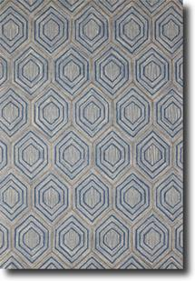 Dew-DWE-2-Blue Hand-Tufted Area Rug