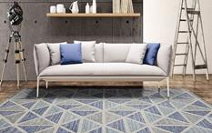 Veche-VEC-1-Blue Room Lifestyle Hand-Tufted Area Rug detail