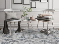 Veche-VEC-29-Gray Room Lifestyle Hand-Tufted Area Rug detail
