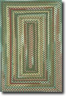 Bear Creek Concentric Rect.-980-275-Hunter Green Braided Area Rug