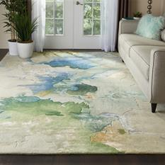 Prismatic-PRS16-SEAFM Room Lifestyle Hand-Tufted Area Rug detail