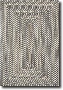 Bear Creek Concentric Rect.-980-300-Grey Braided Area Rug