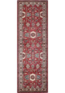 Kazak-Super-Tree-Red Ivory Hand-Knotted Area Rug