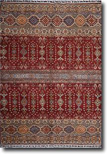 Kazak-Super-Khorgeen-Red Multi Hand-Knotted Area Rug