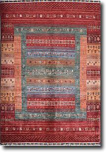 Kazak-Super-Gabbeh-Red Multi Hand-Knotted Area Rug