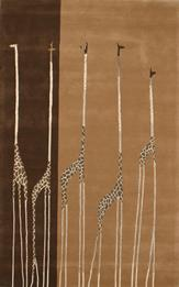 Artisan Safari-Giraff-Brown Hand-Tufted Area Rug