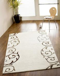 Artisan Studio-Gooding-10036-White Room Lifestyle Hand-Tufted Area Rug detail