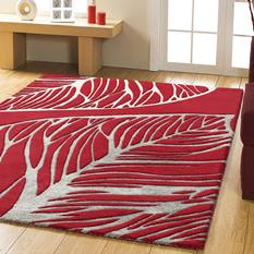 Artisan Studio-Abaca-17010-Red Room Lifestyle Hand-Tufted Area Rug detail