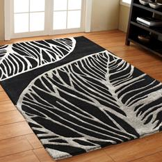 Artisan Studio-Abaca-17010-Black Room Lifestyle Hand-Tufted Area Rug detail