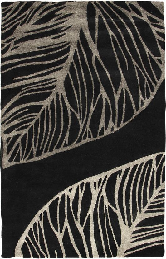 Artisan Studio-Abaca-17010-Black Hand-Tufted Area Rug