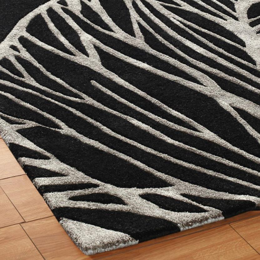 Artisan Studio-Abaca-17010-Black Hand-Tufted Area Rug collection texture detail