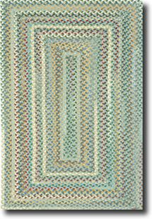 Bear Creek Concentric Rect.-980-400-Misty Blue Braided Area Rug